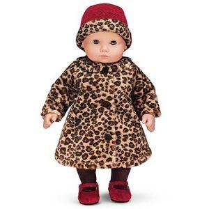 NIB Bitty Baby Chocolate Cherry Coat and Hat